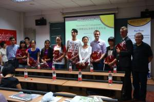 """The winners of the """"First Prize for Best Presentation"""" awards"""
