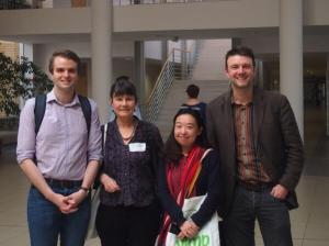 From left to right: me, Jane Sunderland, Charis Yhang and Paul Baker